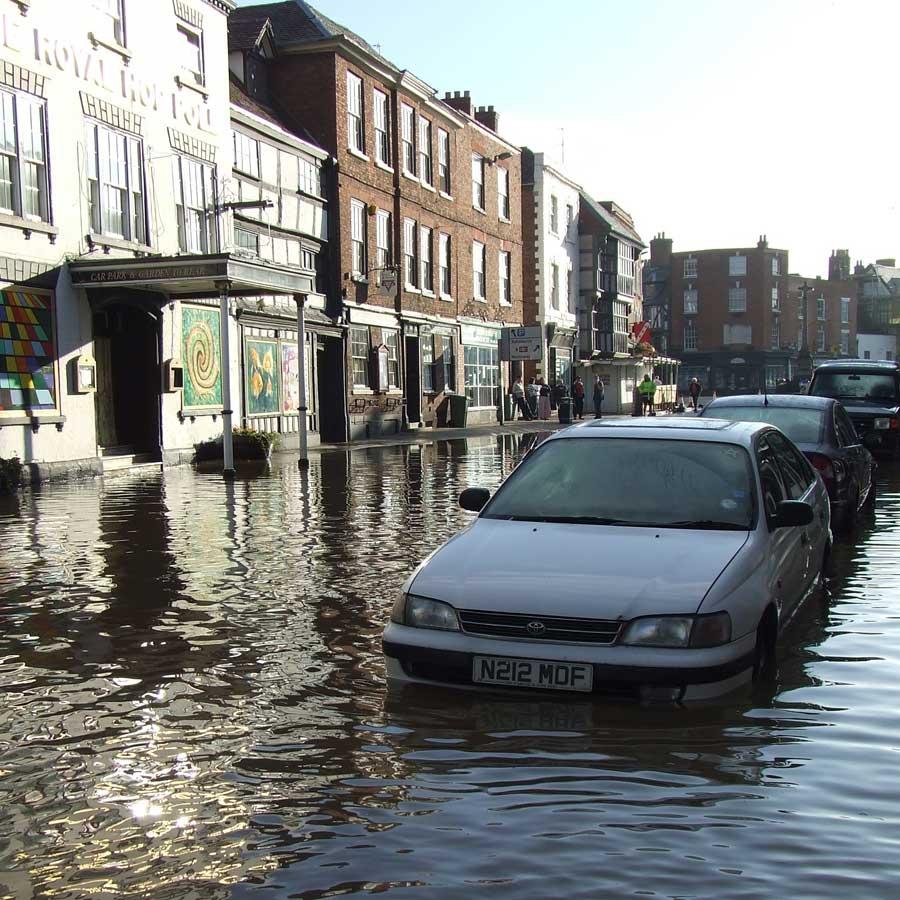 Church Street Tewkesbury 2007 Flood