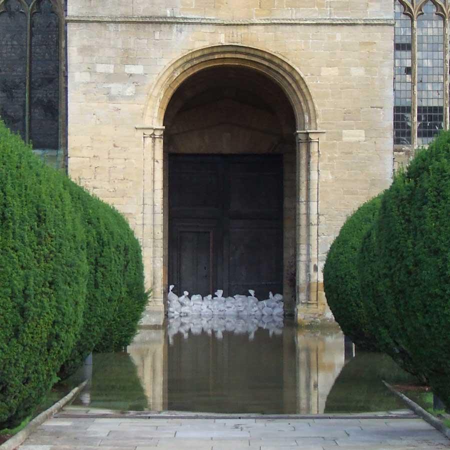 The Abby, Tewkesbury 2007 Flood