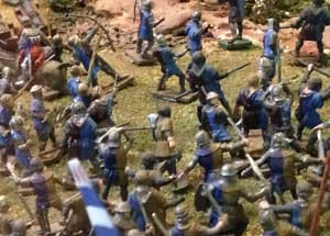 Battle of Tewkesbury diorama