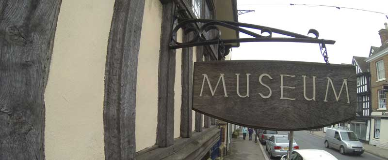 Tewkesbury Museum Sign