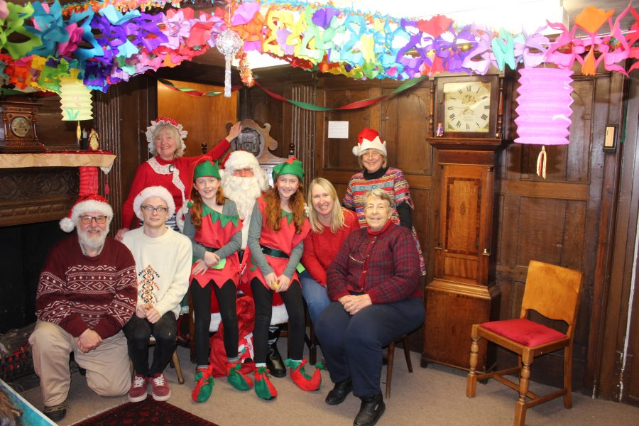 Father Christmas With His Merry Helpers At Tewkesbury Museum 2016