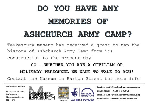 Do You Have Any Memories Of Ashchurch Army Camp?