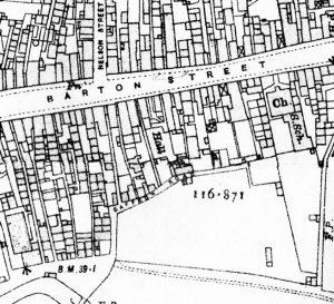 Barton Street 1923 OS map