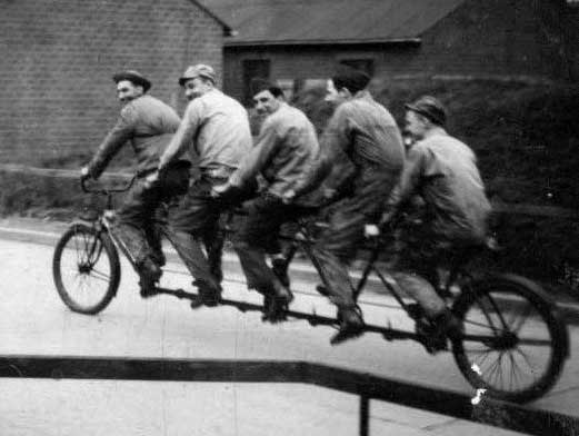 americans on long bicycle