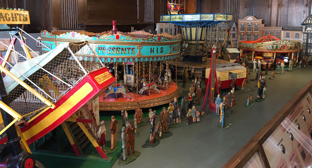 View of completed model